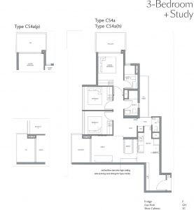 fourth-avenue-residences-floorplan-3bedroom-study-cs4