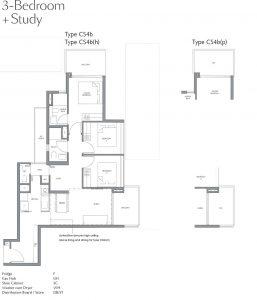 fourth-avenue-residences-floorplan-3bedroom-study-cs4b