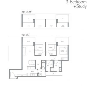 fourth-avenue-residences-floorplan-3bedroom-study-cs7